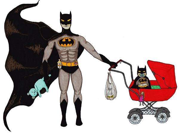 Batman med barvagn