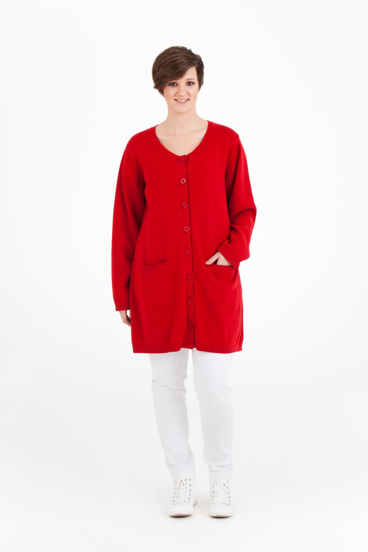 Karin cardigan, NU 674:- (ord. pris 899:-) Finns i rött, marin och mullvad.