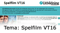 Tema: Spelfilm VT16